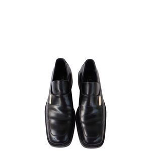 Gucci Shoes - GUCCI BLACK LEATHER SLIP ON LOAFER